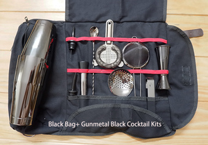Image 5 - Ücretsiz kargo Bar alet çantası Mixology için çantası profesyonel barmen çantası boş çanta