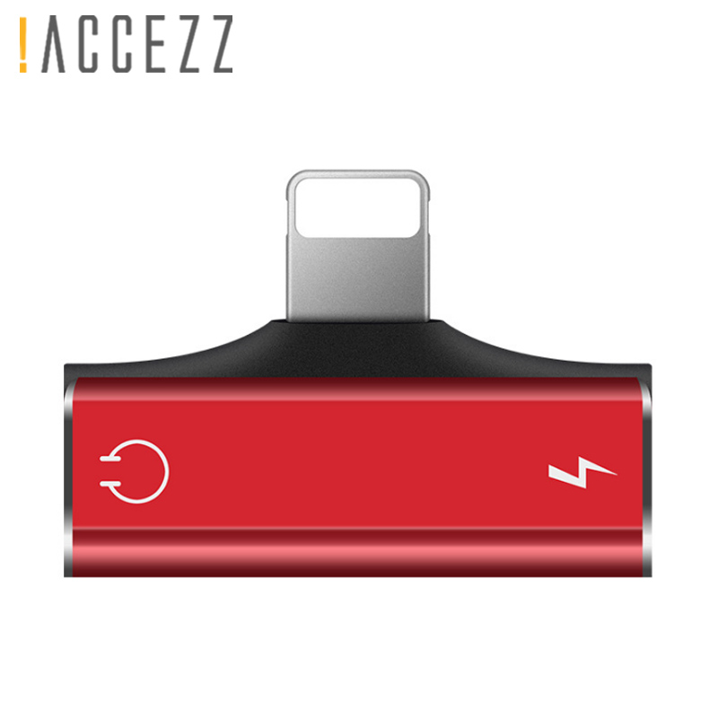 !ACCEZZ 2 IN 1 Dual Lighting Charging Listening Adapter For Iphone 7 8 Plus Charger Cables Earphone AUX Splitter For Iphone XR X