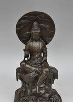 14 chinese buddhism bronze dom Guanyin Kwan Yin Bodhisattva Goddess statue