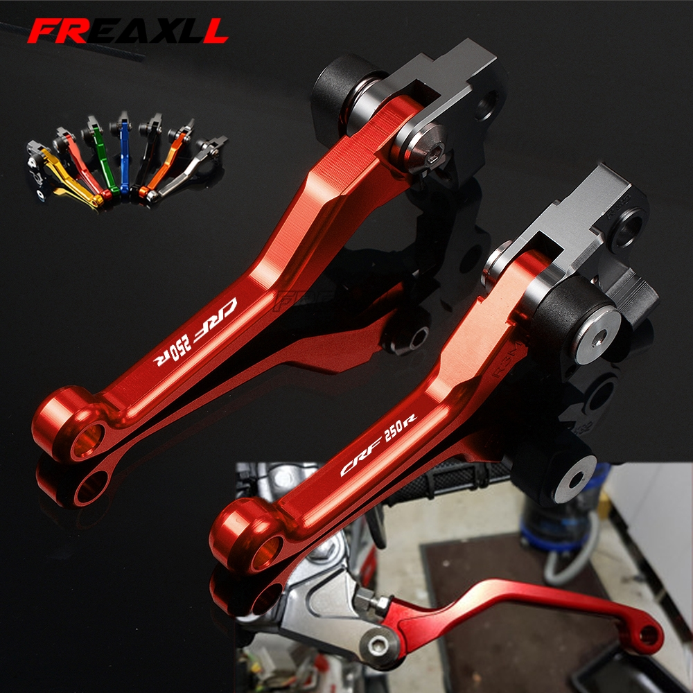 For Honda CRF250R <font><b>CRF</b></font> 250R <font><b>CRF</b></font> 250 R 2004-2018 CNC Motocross Dirt Bike Motorcycle Pivot Brake Clutch Levers Handle Grips image