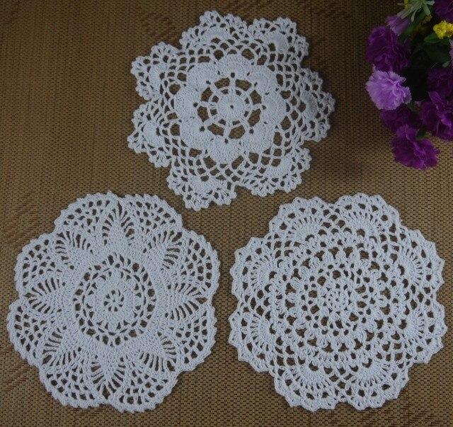 3 Stil Häkeln Deckchen muster Tapete Porzellan pad Vase tasse matte ...
