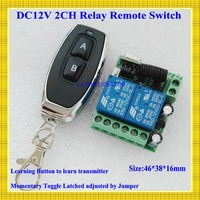 Smart Home Remote Control Switch 2 CH Relay Contact Wireless Switch ASK 2CH Learning Independently RF