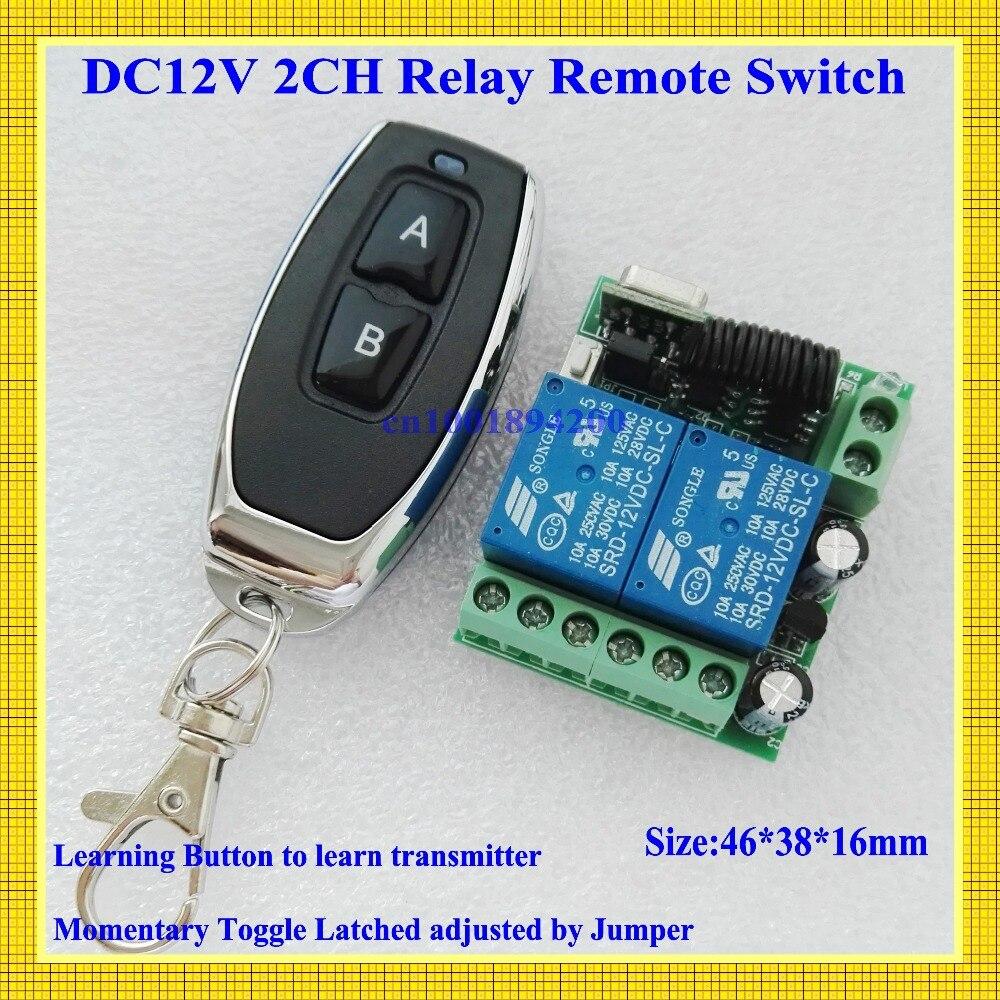 Interruptor de Control remoto de casa inteligente 2 CH relé de contacto interruptor inalámbrico ASK 2CH aprendizaje receptor RF independiente NO COM NC 315/433