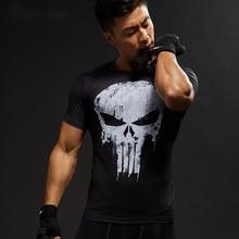 MMA Short Sleeve 3D T-Shirt Men's T-Shirt Crossfit Super Hero Print Men's Fitness Compression Shirt Punisher