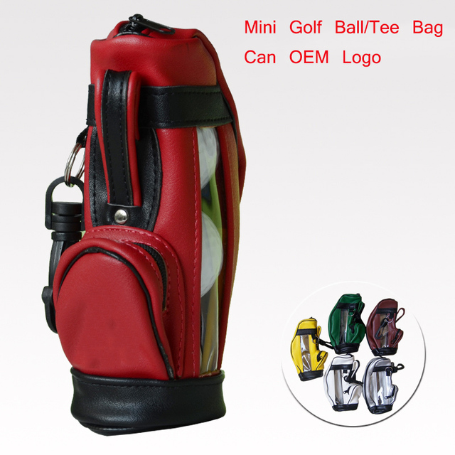 PU Leather Mini Golf Pouch Multifunctional Golf Bag Accessories Bag Small  Bag for Golf Ball/