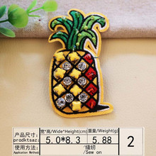 DOUBLEHEE Size 5CM*8.3CM Plant Fruit Patch Embroidered Patches Sew On For Clothing Close Shoes Bags Badges Embroidery