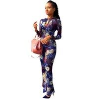 Women Tight Dresses 2017 New Fashion Casual Vintage Long Sleeve Slim Bodycon Dress Ladies Party Print