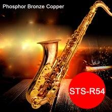 Профессиональный тенор саксофон Selma STS 54 B (b) без каблука Sax Фосфорная бронза медь saxofone музыкальный инструмент мундштук с случае