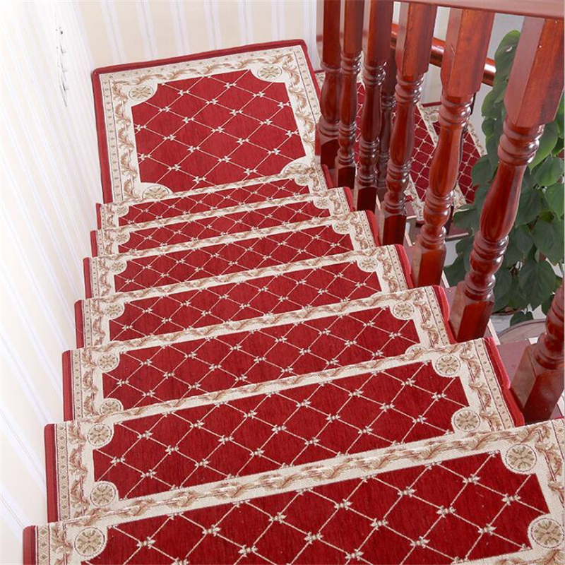 beibehang High-end new square stair step mat glue-free self-adhesive non-slip mat living room corridor carpet mats can be custom