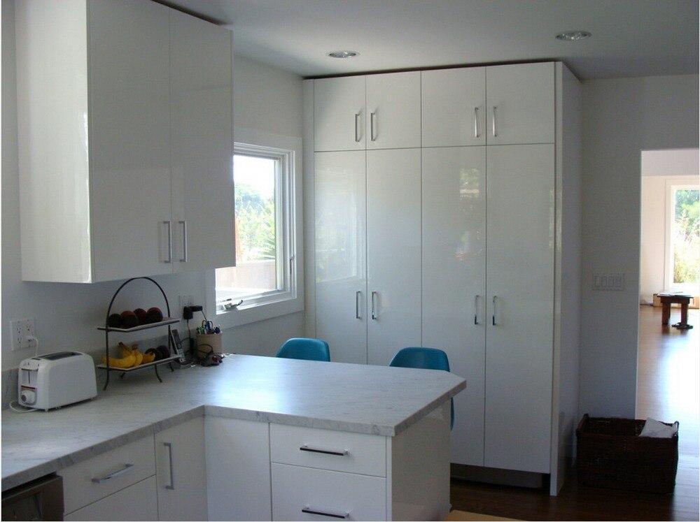 2017 новый дизайн кухонной мебели горячие продажи high gloss white лаком современные кухонные шкафы L1606010