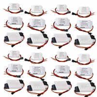 10X 30X 50X 100X LED Driver Adapter Transformer 1-3W 4-5W 4-7W 8-12W 18-24W 300mA Power Supply Light Transformers AC 85-265V