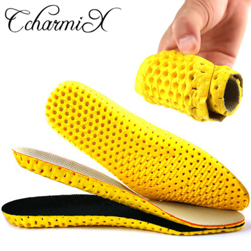 CcharmiX Mesh EVA Lightweight Insole Comfortable Soft Insoles Sport Running Breathable Insoles Insert Cushion For Men Women