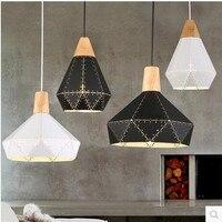 Industrail Laser Cutting Modern Scandinavian Design Wood Hanging Light For Living Room Nordic Loft Home Pendant