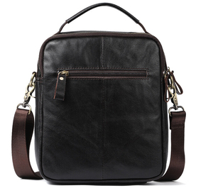 Image 4 - Real leather mens single shoulder/cross body bag top layer cowhide waxy leather mens bag.pinepoxp bag