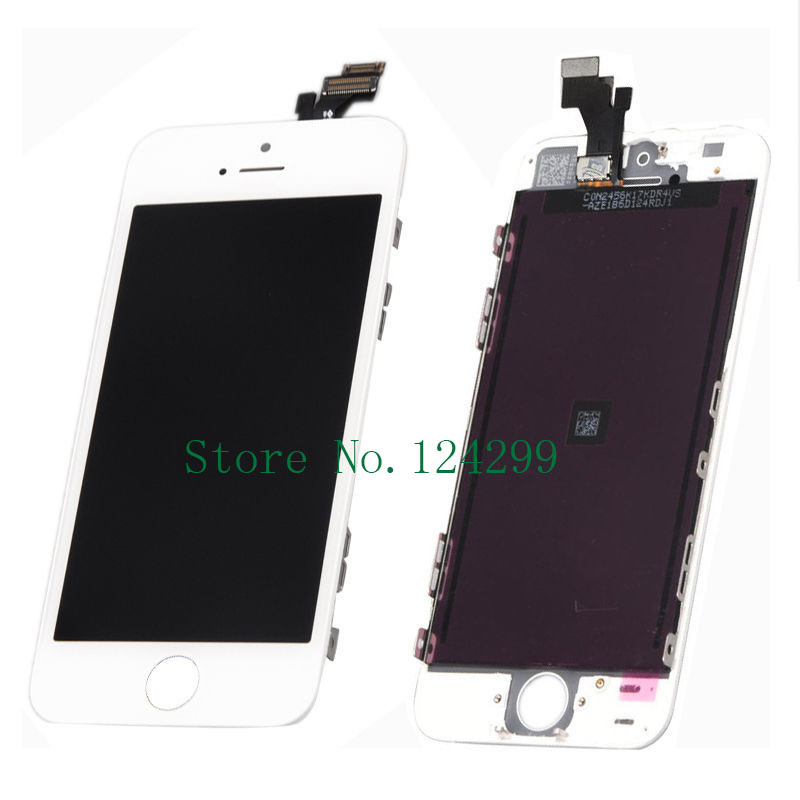 White LCD Display Touch Screen Digitizer Assembly for iPhone 5 5G Free shipping