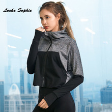 1pcs Womens Plus size short jackets and coats 2019 Autumn quick-drying hooded zipper elastic ladies Skinny jacket