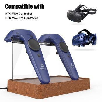 New Magnetic Dual Wireless Charger Charging Stand Station Case for HTC Vive/HTC Vive Pro VR Controller Double Handle Charging