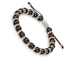 BOFEE Rope Natural Beads Bracelet Round Agates Matte Onyx String Handmade Chain Summer Fashion Jewelry Gift Love For Women Men