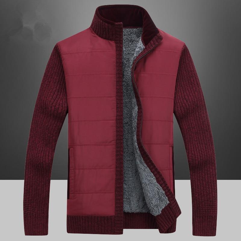 Sólido suéter de los hombres prendas de punto ropa Cardigan de los - Ropa de hombre