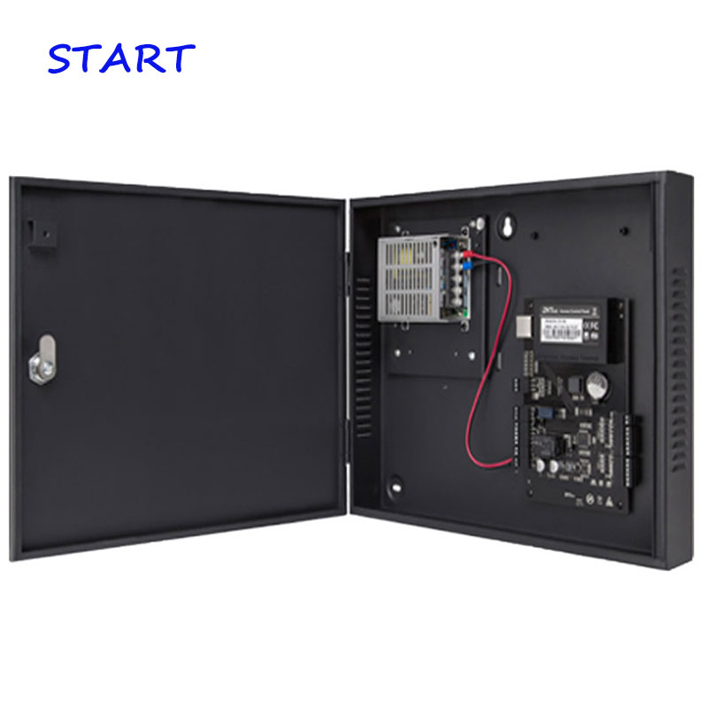 C3-100 O  Door Access Control Panel TCP/IP Door Access Control Board With Battery Function Power Supply Protect Box