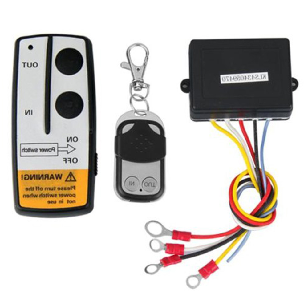 Marsnaska Hot sale 2 x Wireless Winch Remote Control Kit 12V 50ft For Truck Jeep SUV ATV
