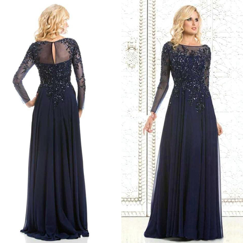 Popular Long Sleeve Mother of The Bride Dresses-Buy Cheap Long ...