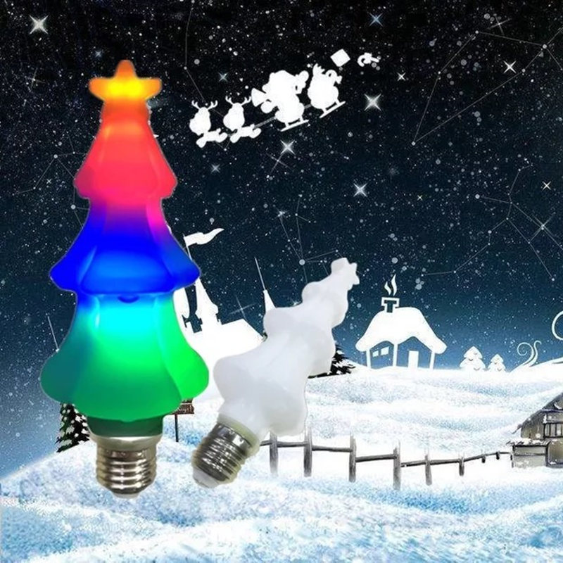 Colorful E27 Christmas Tree Bulb 85-265V LED Color Light Flashing Simulation Decoration