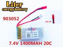 7.4V 1400mAh Lipo Battery For WLtoys V353 Aircraft Li-Po Battery For WLtoys A949 A959 A969 A979 k929 Remote Control Car 903052