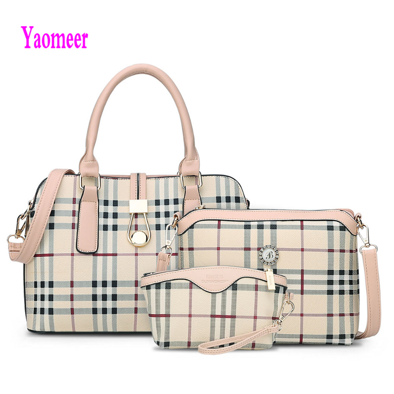 ФОТО Hot Sale Plaid Composite Bag Women Shoulder Crossbody Bags Fashion Party Hasp Zipper Black Clutch Famous Brand Pu Handbags a23