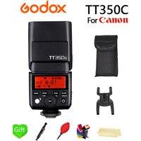 Godox TT350C Flash TTL Wireless X System Camera Flash Speedlite GN36 1/8000s HSS 2.4G Pocket lights for Canon DSLR Camera + Gift