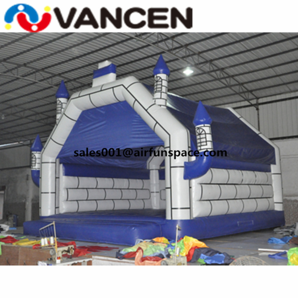 Ship to door cheap inflatable jumping castle blue color bouncers for outdoor playing children toy inflatable bouncy castle free shipping pvc material inflatable baby bouncers hot sale 3 75x2 6x2 1 meters small mini bouncy castles for outdoor toys