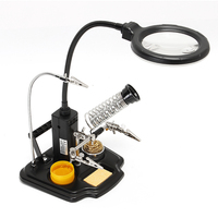 SN 396 Magnifying Glass Magnifier with LED Light for Soldering Solder RC Parts Tool For RC Toy Models 25x(6D)+4X(12D)