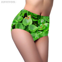 팬티 속옷 3D 동물 인쇄 팬티 여성 여성의 연꽃 잎 개구리 팬티 팬티 문자열