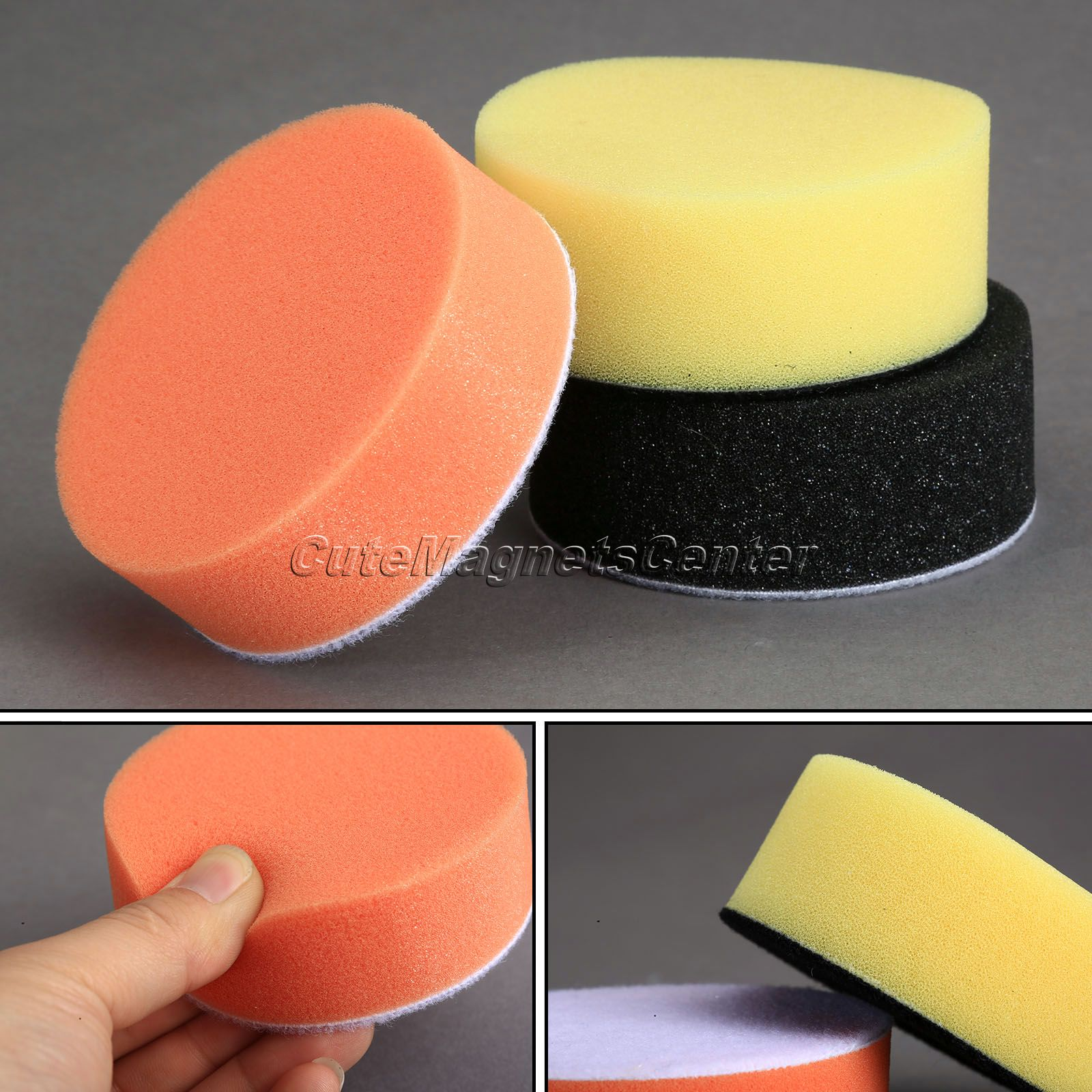 3Pcs 3Inch 80mm Felt Soft Auto Car Waxing Sponge Foam