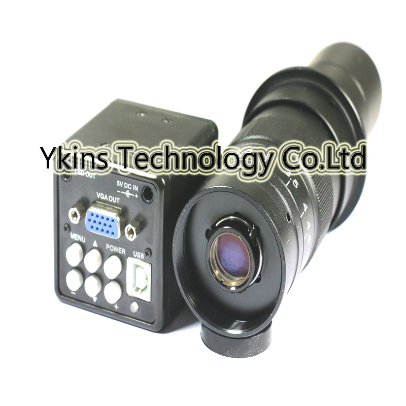 2 in 1 USB VGA outputs CCD CMOS microscope Camera+130X OR 180X C-Mount lens for bga IC phone pcb free shipping 600x 4 3 lcd display microscope zoom portable led video microscope with aluminum stand for pcb phone repair bga