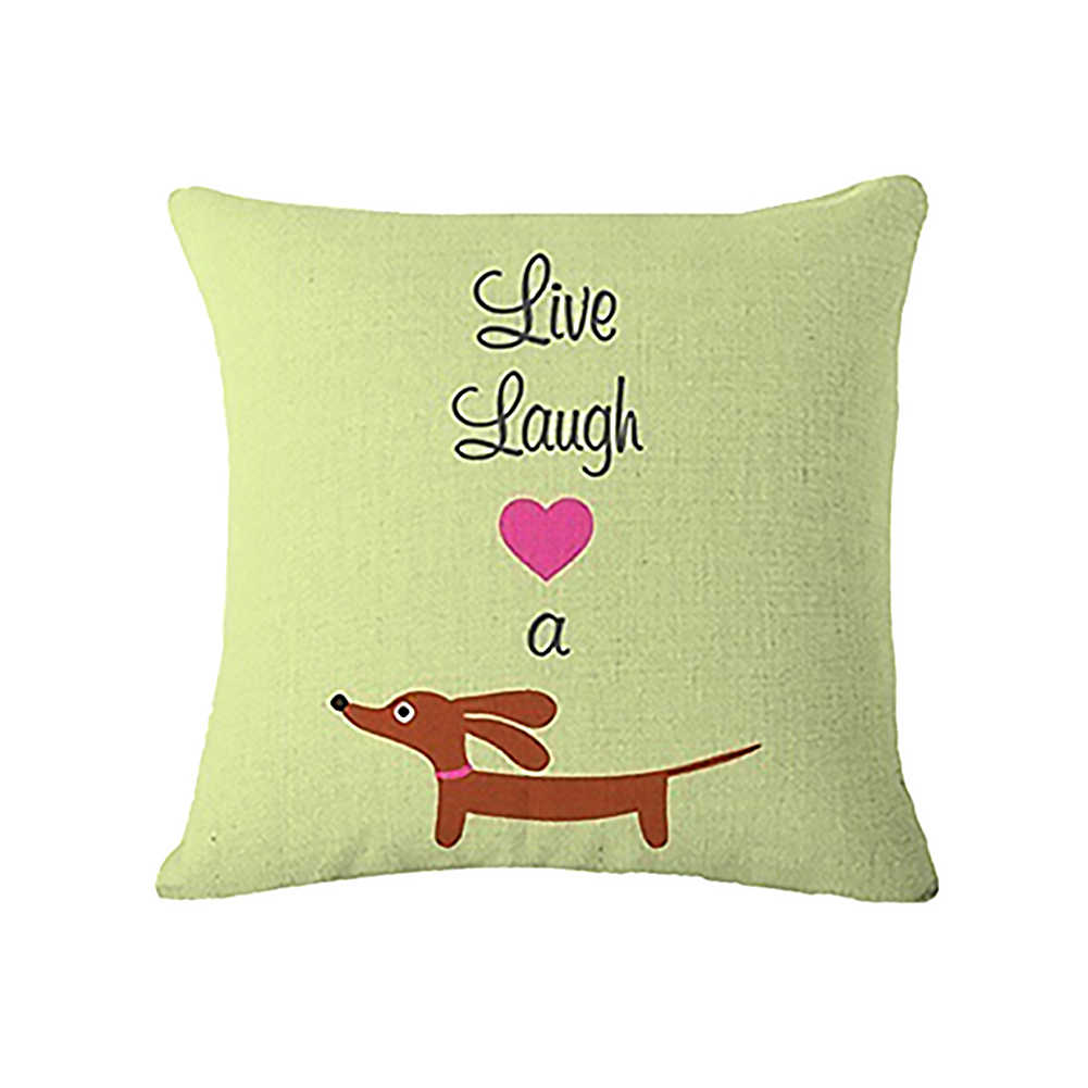 ダックスフント犬足手紙 Invisible Zipper スロー枕カバーの家の装飾