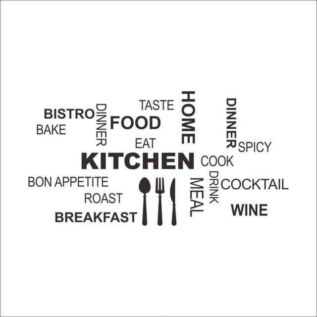 Creative art Kitchen Wall Sticker Knife Fork Spoon