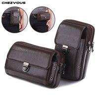CHEZVOUS Belt Clip Leather Mobile Phone Bag Case For Samsung Galaxy S8 S9 plus s7 s6 edge s5 s4 J&A series Pouch Case 4.7~6.0''