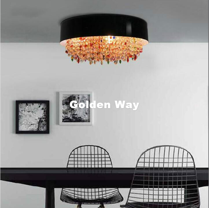 Modern Decora Crystal LED Nordic Ceiling Light Fixture Color Crystal Ceiling Lamp for Hallway Corridor Living Room Ceiling Lamp настольная лампа regenbogen life инго 658030201