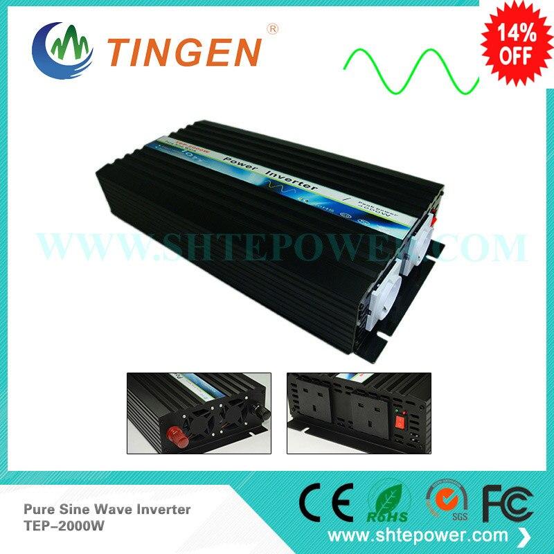 2000 W решеточный инвертор, Мощность инвертор 2kW 12 V/24VDC до 110 V/220/230 v AC Чистая Синусоидальная волна инвертор для ветра или Солнечные энергетические установки
