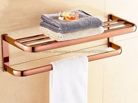 Rose Gold Towel Rack Continental Bathroom Accessories Sanitary Wares Towel Bars Bathroom Towel Hanger Nba865