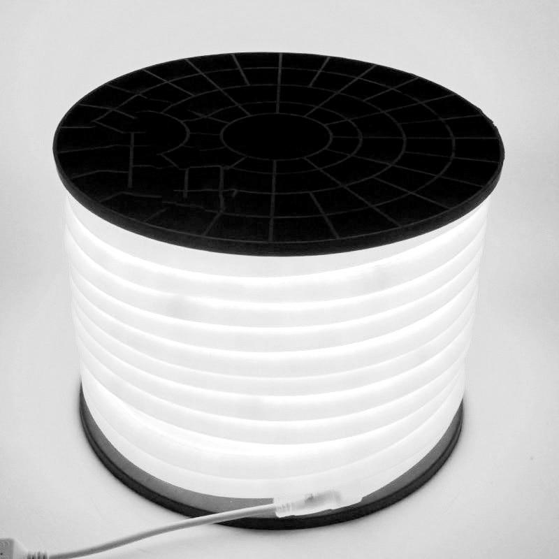 Fanlive 100m/lot 360 Degree Round LED Neon Strip Dia16mm 14w AC220V 240v Flexible Light Waterproof 120leds/m Outdoor