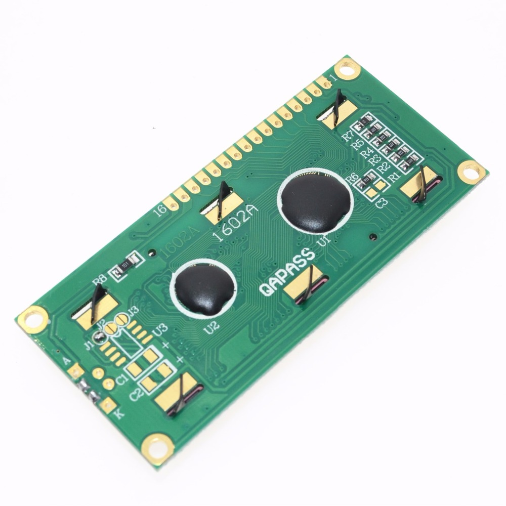 Módulo lcd1602 1602, tela verde 16x2, personagem, lcd module.1602 5v, tela verde e branca, 1 peça código para arduino