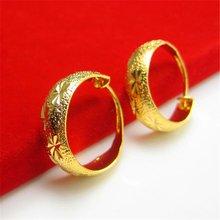 Старинные серьги кольца желтое золото женские