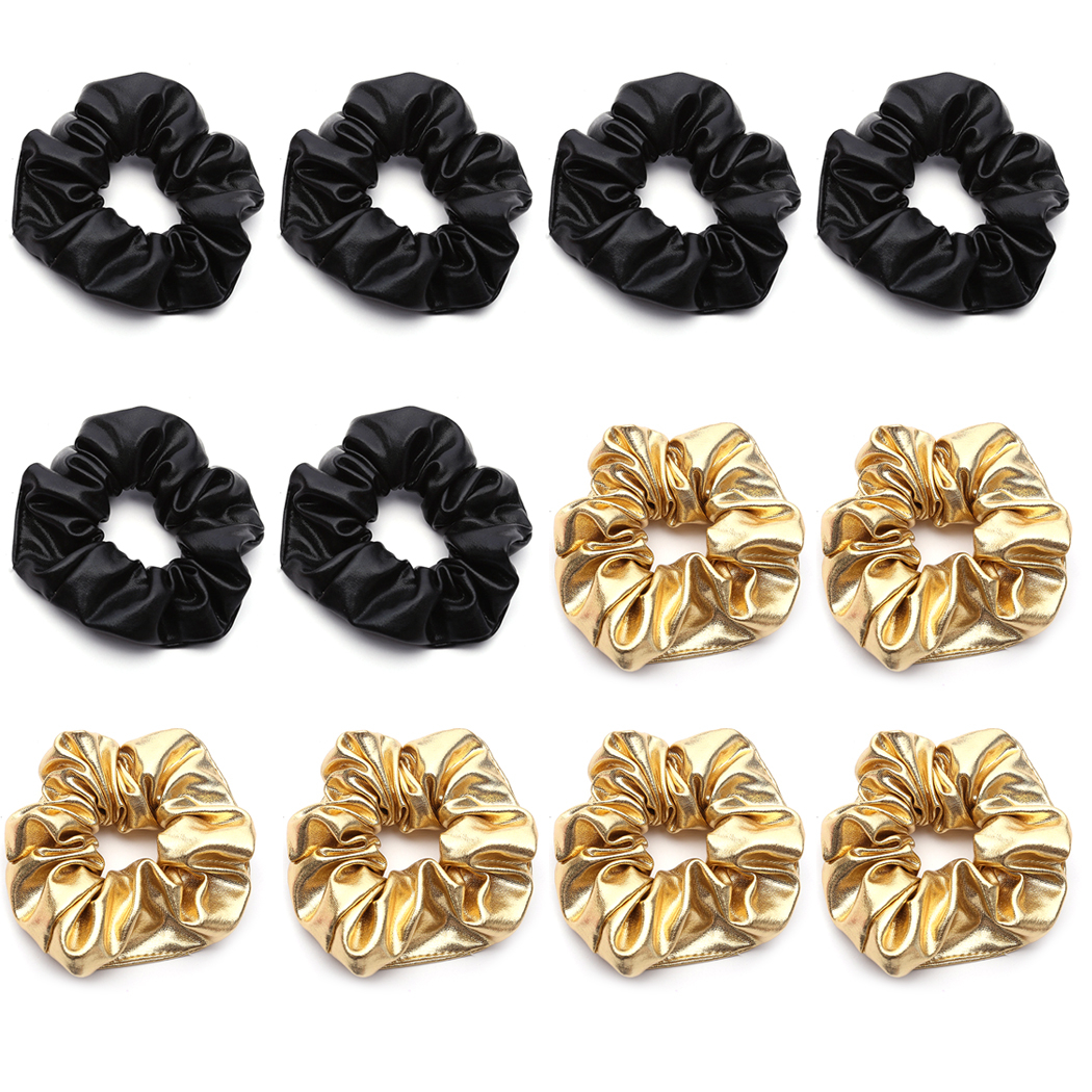 12PCS Hair Scrunchies Cloth No Damage Traceless Elastic Scrunchies Bobbles Hair Ties for Women