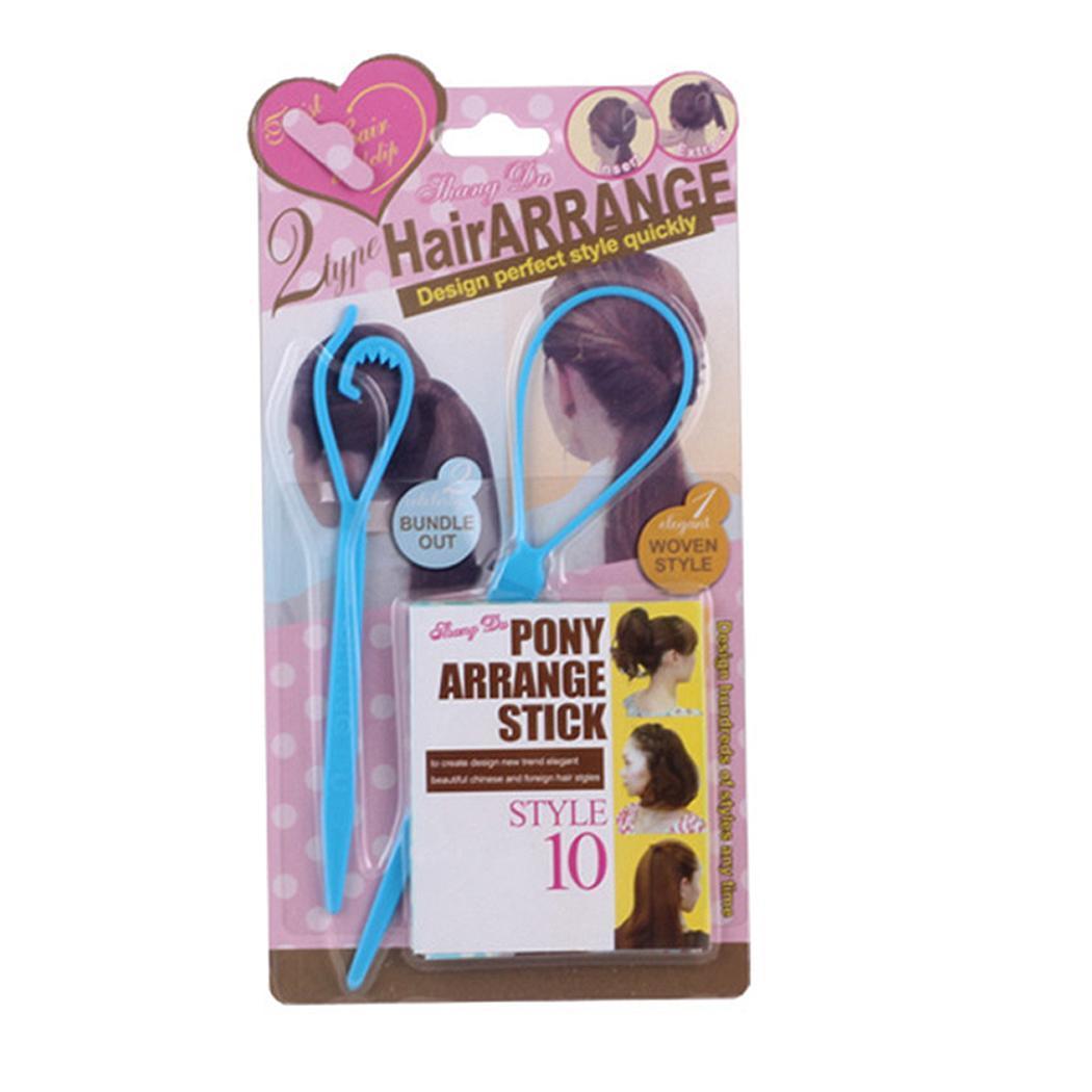 Hair Large Home Salon Hair Control Pony Hair Stick 2PCS Accessories