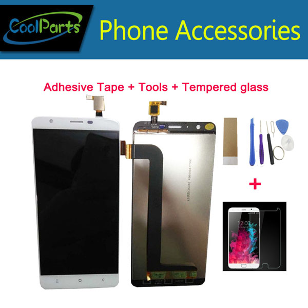 1PC/Lot High Quality 5.5 Inch For Oukitel U15 Pro LCD Display Screen And Touch Screen Digitizer Black White Color With Kits
