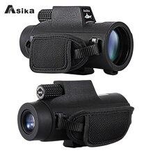 8/10x42 Asika Impermeabile Monoculare Con Bak4 Prisma Ottica 22.6mm Grande Oculare del Telescopio di Caccia di Campeggio di Viaggio spotting Scope