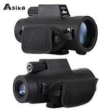 8/10x42 Asika Waterproof Monocular With Bak4 Prism Optics 22.6mm Large Eyepiece Telescope Camping Hunting Travel Spotting Scope
