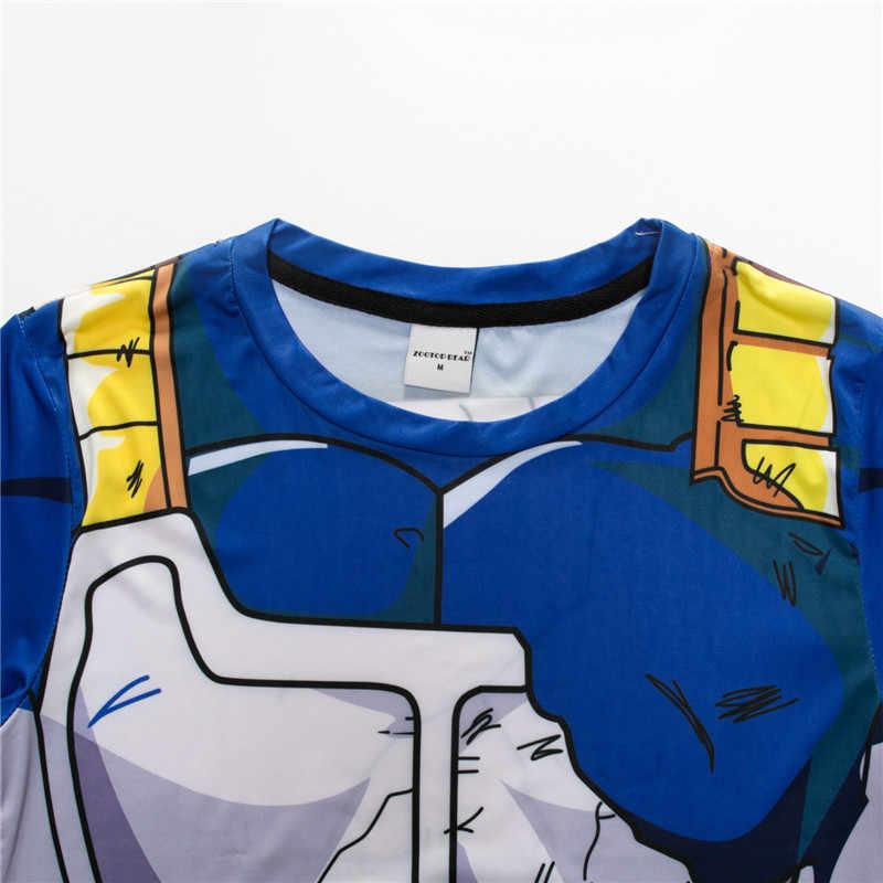 Dragon Ball Z футболки мужские обтягивающие рубашки аниме короткий рукав Футболка фитнес топы Вегета ГОКу крутые Забавные футболки для фитнеса